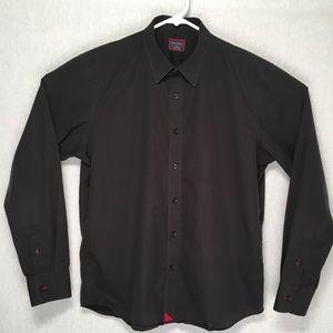 UNTUCKit mens long sleeve button up casual shirt L
